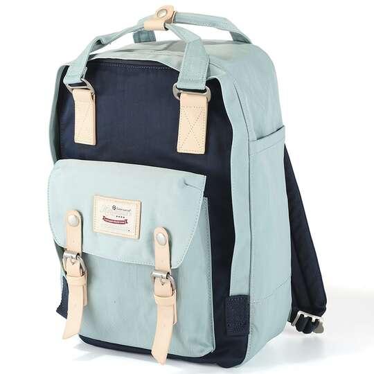 "Plecak Himawari HM188L na laptopa 13,3"" 14,1"" vintage - Kolor: 07. niebiesko-granatowy"