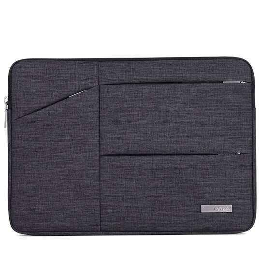 "Etui Canvas na laptopa 15,6"" z kieszonkami - Kolor: Grafit"