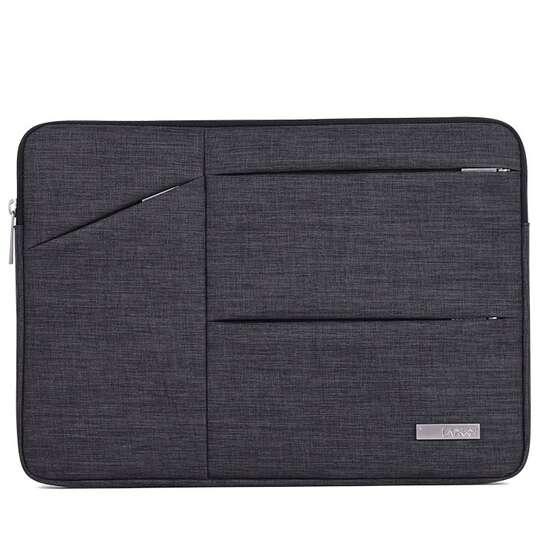 "Etui Canvas na laptopa 14,1"" z kieszonkami - Kolor: Grafit"