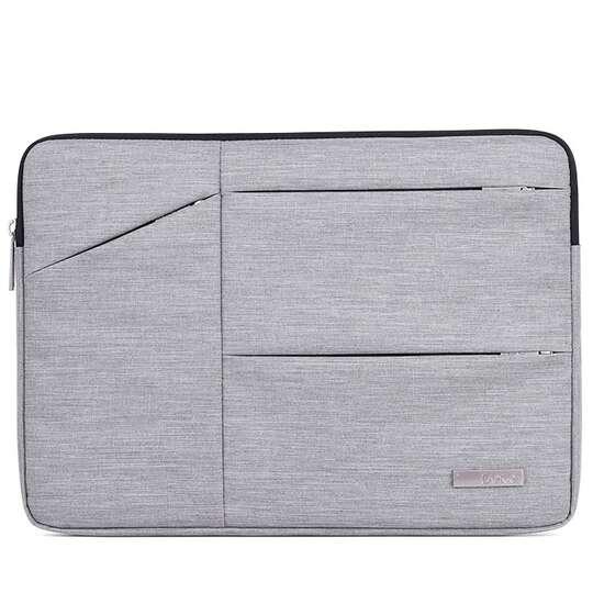 "Etui Canvas na laptopa 15,6"" z kieszonkami - Kolor: szary"