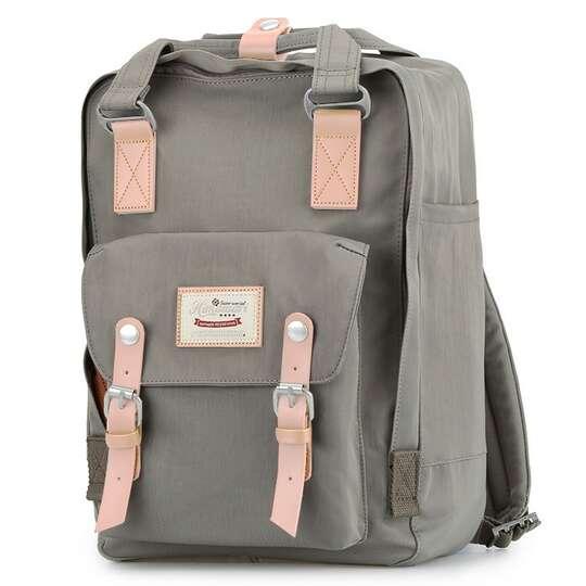 "Plecak Himawari HM188L na laptopa 13,3"" 14,1"" vintage - Kolor: 25. szary"