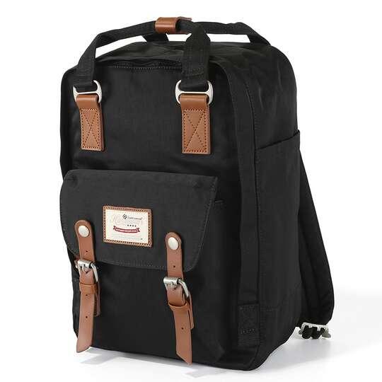 "Plecak Himawari HM188L na laptopa 13,3"" 14,1"" vintage - Kolor: 26. czarny"