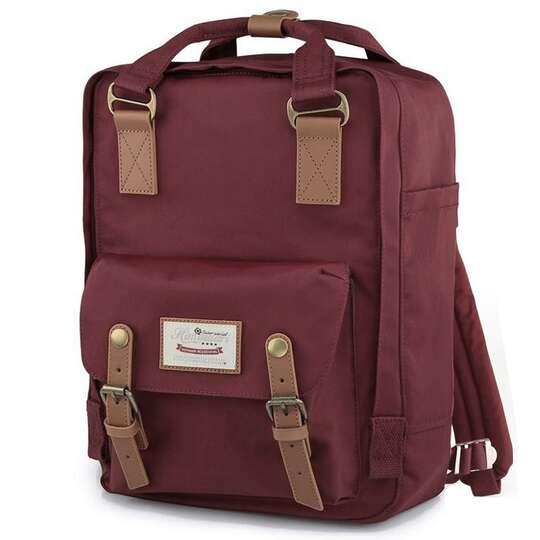 "Plecak Himawari HM188L na laptopa 13,3"" 14,1"" vintage - Kolor: 27. bordowy"