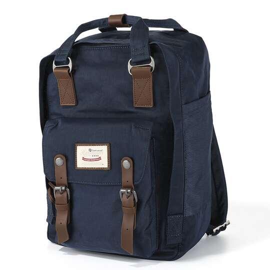 "Plecak Himawari HM188L na laptopa 13,3"" 14,1"" vintage - Kolor: 28. granatowy"
