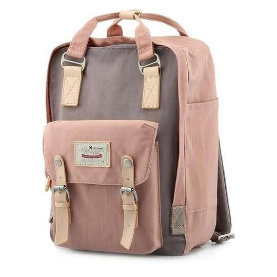 """Plecak Himawari HM188L na laptopa 13,3"""" 14,1"""" vintage - Kolor: 32. różowo-brązowy"""