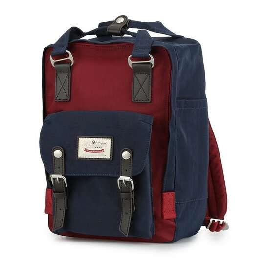 "Plecak Himawari HM188L na laptopa 13,3"" 14,1"" vintage - Kolor: 33. granatowo-bordowy"