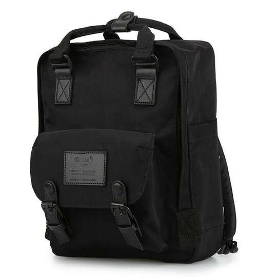 "Plecak Himawari HM188L na laptopa 13,3"" 14,1"" vintage - Kolor: 34. cały czarny"