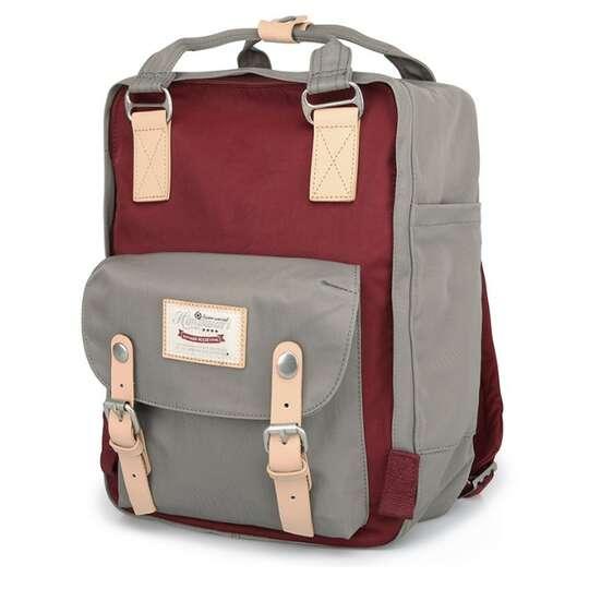 "Plecak Himawari HM188L na laptopa 13,3"" 14,1"" vintage - Kolor: 39. szaro-bordowy"