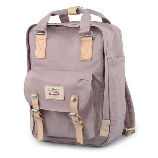 "Plecak Himawari HM188L na laptopa 13,3"" 14,1"" vintage - Kolor: 41. pastelowy fiolet"