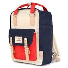 """Plecak Himawari HM188L na laptopa 13,3"""" 14,1"""" vintage - Kolor: 44. granatowo-czerwono-kremowy"""