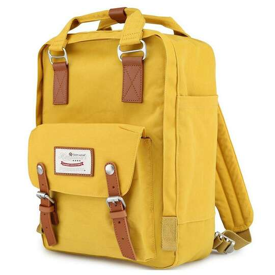 "Plecak Himawari HM188L na laptopa 13,3"" 14,1"" vintage - Kolor: 49. żółty"