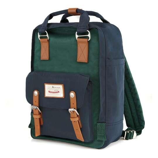 "Plecak Himawari HM188L na laptopa 13,3"" 14,1"" vintage - Kolor: 50. granatowo-zielony"