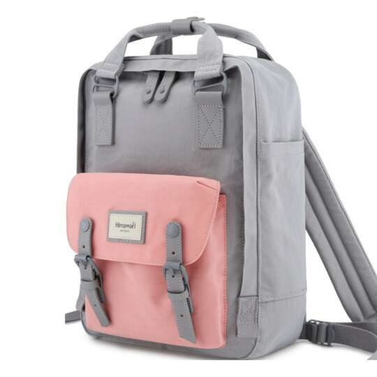 "Plecak Himawari HM188L na laptopa 13,3"" 14,1"" vintage - Kolor: 61. szaro-różowy"