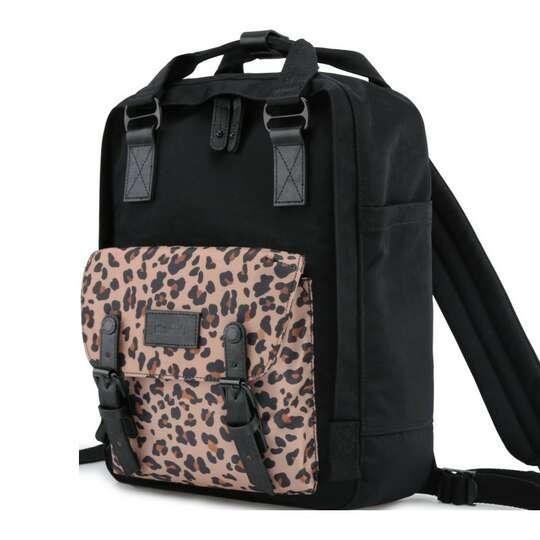 "Plecak Himawari HM188L na laptopa 13,3"" 14,1"" vintage - Kolor: 62. czarny/gepard"