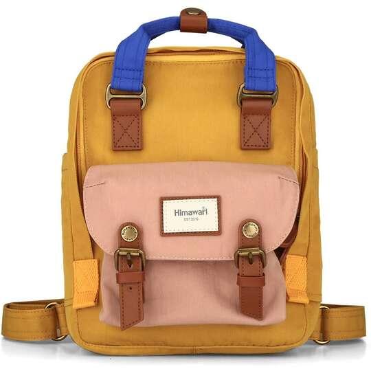 "Plecak Himawari HM188S na tablet 10"" vintage - Kolor: 55. żółto-różowo-niebieski"