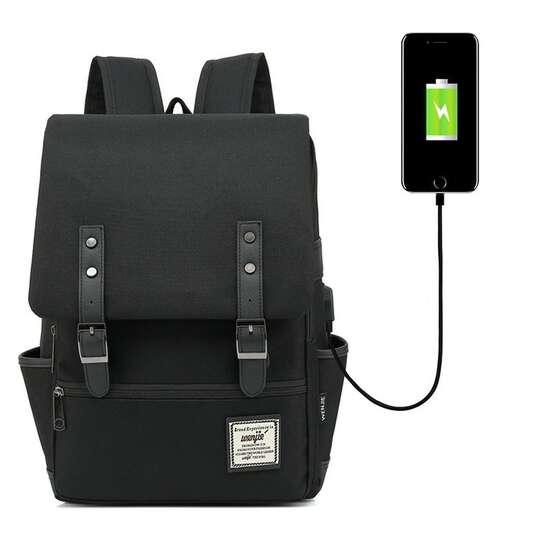 """Plecak Oxford na laptopa 15,6"""" - Kolor: czarny z USB"""