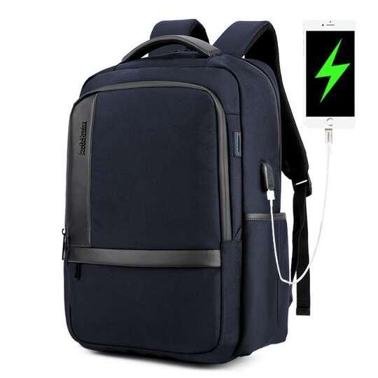 "Plecak Arctic Hunter na laptopa 17,3"" B00120 z USB - Kolor: niebieski"