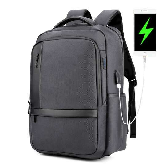"Plecak Arctic Hunter na laptopa 17,3"" B00120 z USB - Kolor: szary"