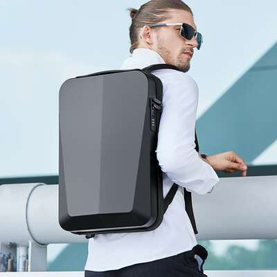 "Antykradzieżowy plecak Bange twarda skorupa na laptopa 15,6"" z USB BG22201"