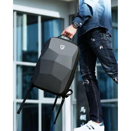 """Antykradzieżowy plecak FRN7386 dwukomorowy na laptopa 15,6"""" z USB"""