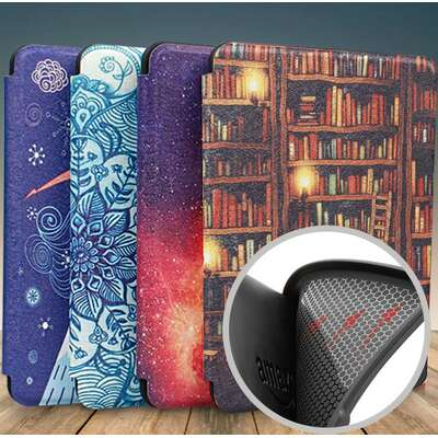 Etui Kindle Paperwhite 4 silikonowy tył wzory