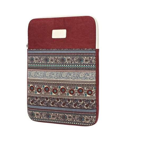 "Etui etno Canvas na laptopa 13,3"" - Kolor: czerwony"