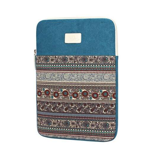 "Etui etno Canvas na laptopa 14,1"" - Kolor: niebieski"