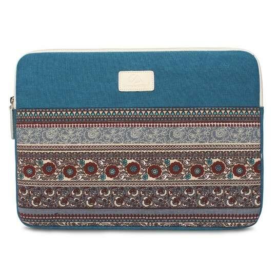 "Etui etno Canvas na laptopa 15,6"" - Kolor: niebieski"