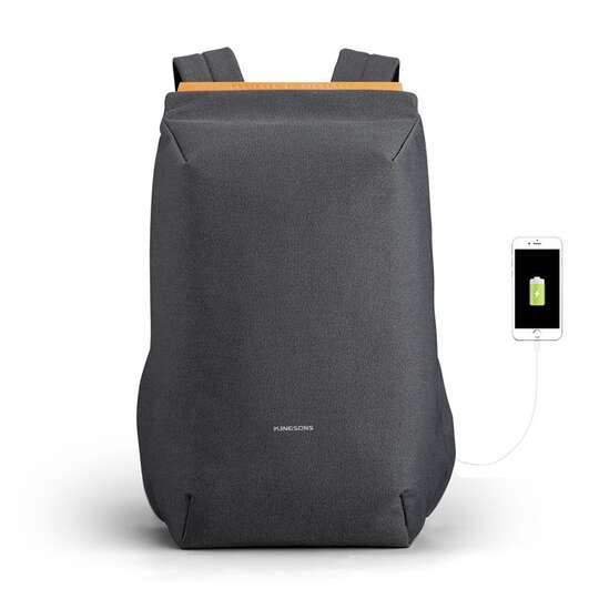 "Lekki plecak Kingsons na laptopa 15,6"" KS3207W z USB - Kolor: czarny"