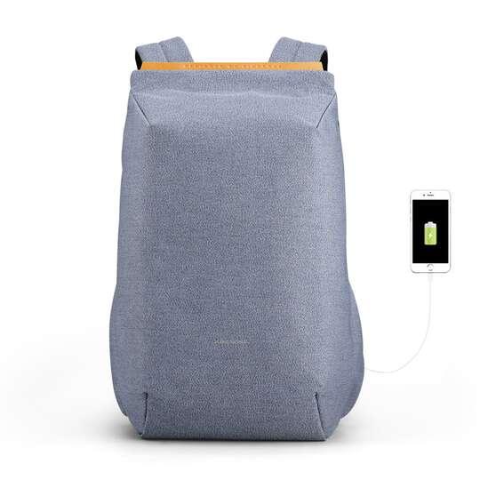 "Lekki plecak Kingsons na laptopa 15,6"" KS3207W z USB - Kolor: niebieski"