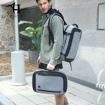 """Plecak 2in1 Arctic Hunter na laptopa 15,6"""" bardzo pojemny bagaż podręczny"""