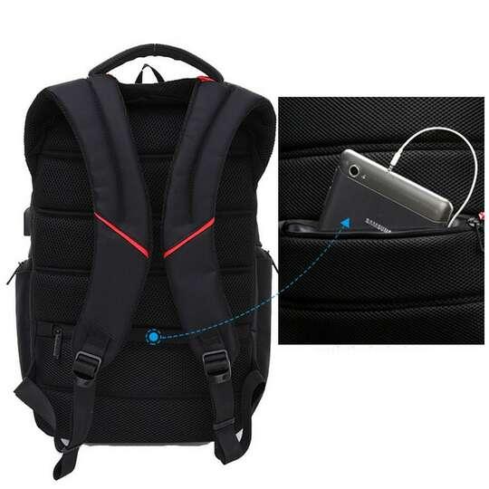 """Plecak DTBG na laptopa 17,3"""" z USB OUTLET SKAZA"""
