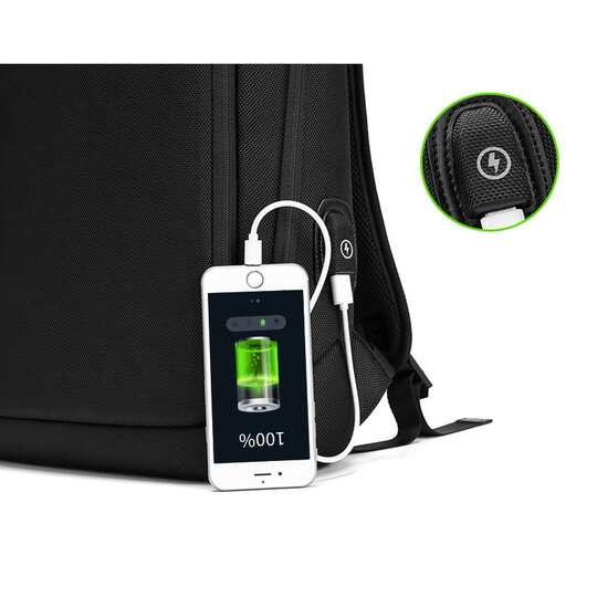 "Plecak Eurcool/Nigeer na laptopa 15,6"" EC-2063 z USB"
