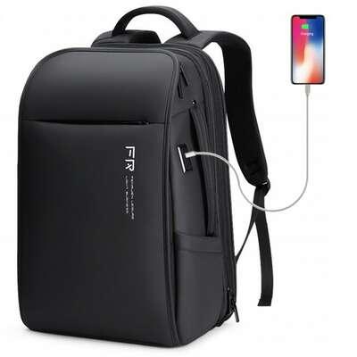 "Plecak FRN na laptopa 15,6"" 16,4"" bardzo pojemny z USB F-55-3"