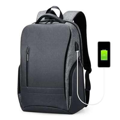 """Plecak ROWE R-5079 na laptopa 17,3"""" bardzo pojemny z USB"""