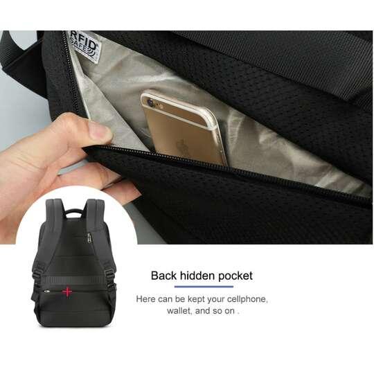 "Plecak Tigernu na laptopa 15,6"" - 16,4"" T-B3668 z USB"