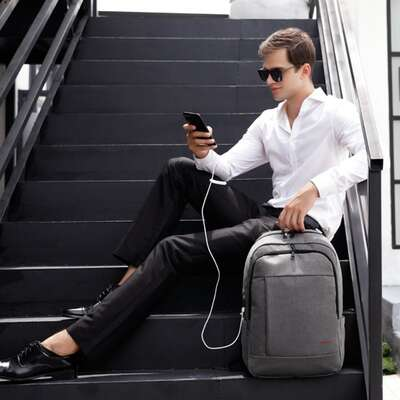 "Plecak Tigernu na laptopa 17,3"" dwukomorowy T-B3142"