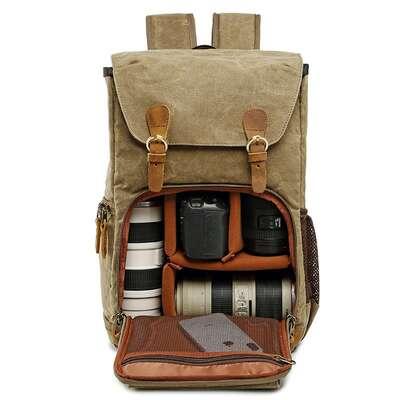 "Plecak fotograficzny na aparat + laptopa 14,1"" vintage"