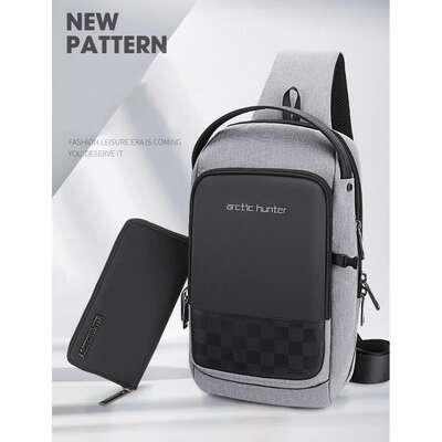 Plecak miejski Arctic Hunter na jedno ramię organizer z USB XB00105
