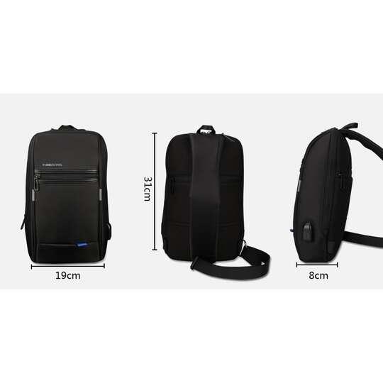 Plecak miejski Kingsons na jedno ramię organizer z USB KS3174W