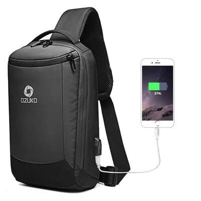 Plecak miejski Ozuko na jedno ramię organizer z USB ZL9078m36