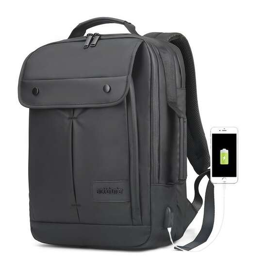 "Plecak Arctic Hunter na laptopa 15,6"" B00325 z USB - Kolor: czarny"