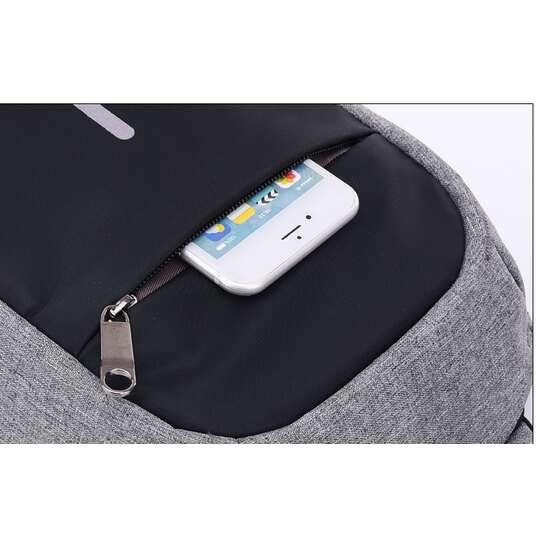 Saszetka-plecak miejski z USB odblaski