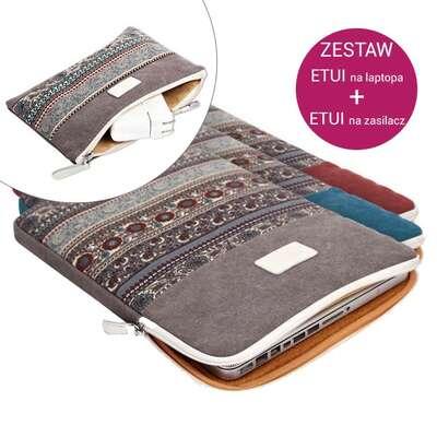"Zestaw Etui etno Canvas na laptopa 14,1"" + Etui etno Canvas na zasilacz"