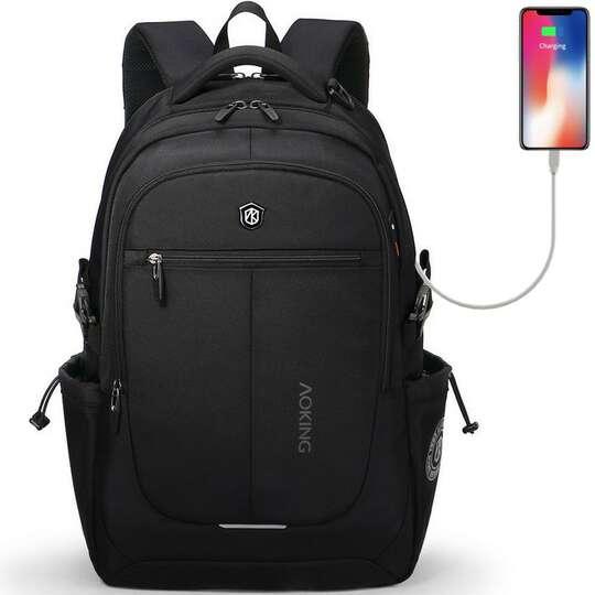 """Plecak Aoking na laptopa 15,6"""" 16,4"""" bardzo pojemny - Kolor: czarny z USB"""