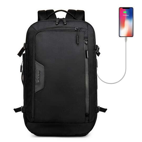 "Plecak/torba Arctic Hunter na laptopa 18"" B00183 z USB - Kolor: czarny"