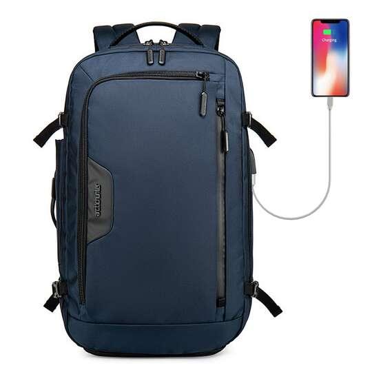 "Plecak/torba Arctic Hunter na laptopa 18"" B00183 z USB - Kolor: niebieski"