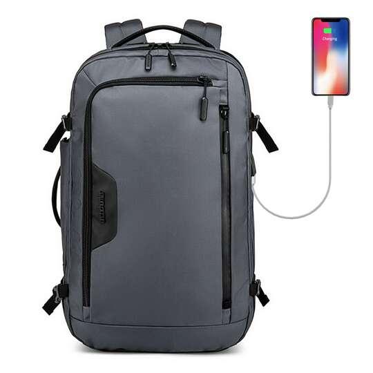 "Plecak/torba Arctic Hunter na laptopa 18"" B00183 z USB - Kolor: szary"