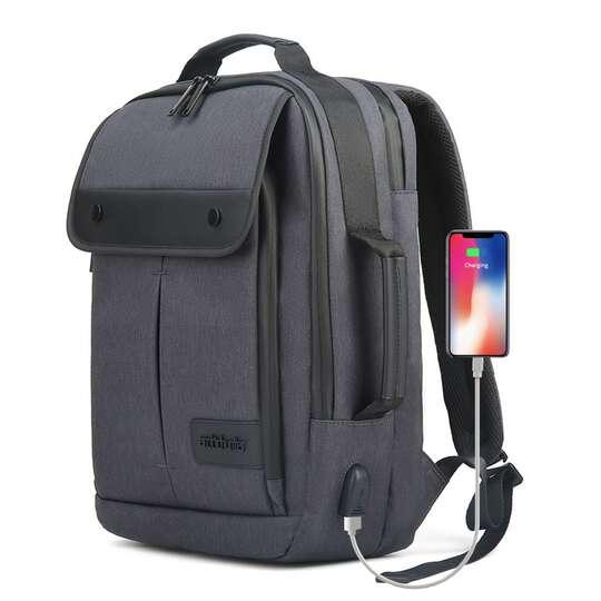 "Plecak Arctic Hunter na laptopa 15,6"" B00325 z USB - Kolor: grafitowy"