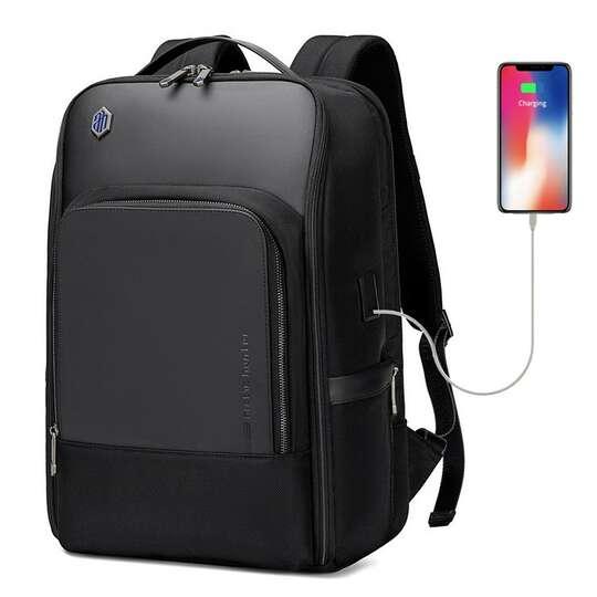 "Plecak z nylonu balistycznego na laptopa 17,3"" Arctic Hunter B00403 - Kolor: czarny"